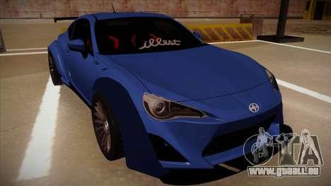 Scion FR-S Rocket Bunny pour GTA San Andreas laissé vue
