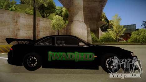 Nissan s14 200sx [WAD]HD pour GTA San Andreas sur la vue arrière gauche