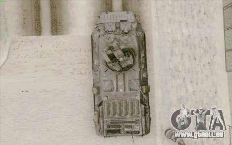 BTR-80 pour GTA San Andreas vue de dessus