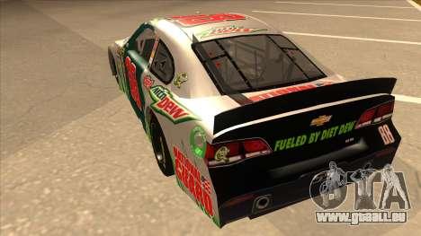 Chevrolet SS NASCAR No. 88 Diet Mountain Dew pour GTA San Andreas vue arrière