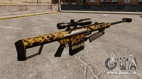 Le v12 de fusil de sniper Barrett M82 pour GTA 4 secondes d'écran