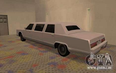 Limousine Driver Parallel Lines von für GTA San Andreas linke Ansicht