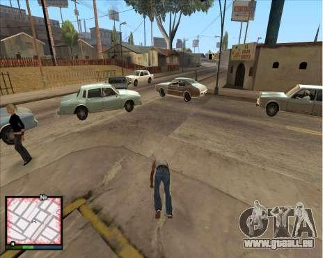 GTA 5 HUD pour GTA San Andreas troisième écran