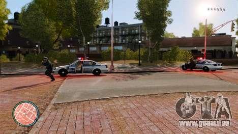 Sans tirets de police pour GTA 4 troisième écran