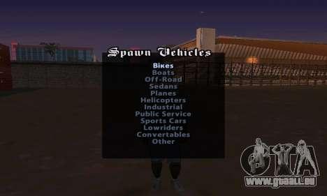 Cheat Menu pour GTA San Andreas troisième écran