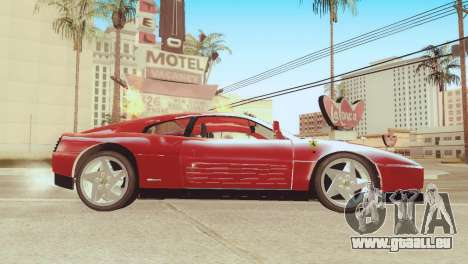 Ferrari 348 TB für GTA San Andreas zurück linke Ansicht