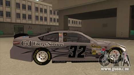 Ford Fusion NASCAR No. 32 C&J Energy services pour GTA San Andreas sur la vue arrière gauche