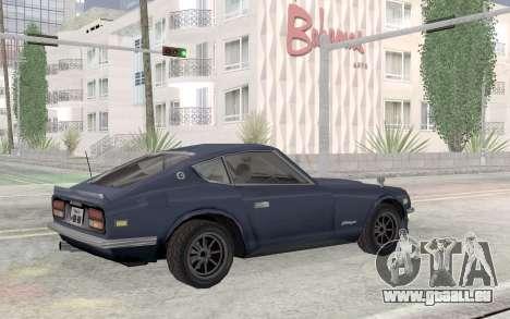 Nissan Fairlady Z AKUMA pour GTA San Andreas vue intérieure