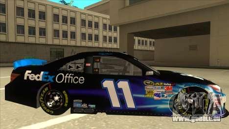 Toyota Camry NASCAR No. 11 FedEx Office pour GTA San Andreas sur la vue arrière gauche