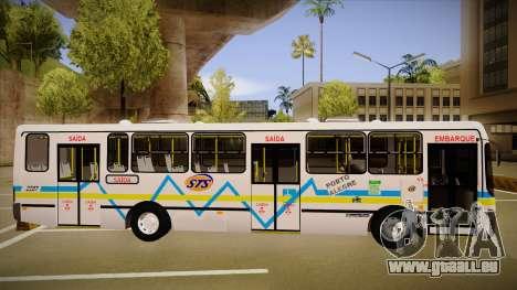 Busscar Urbanuss Ecoss MB OF 1722 M Porto Alegre pour GTA San Andreas sur la vue arrière gauche