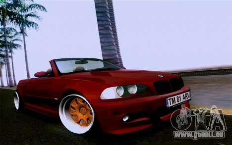 BMW M3 Cabrio pour GTA San Andreas vue de droite