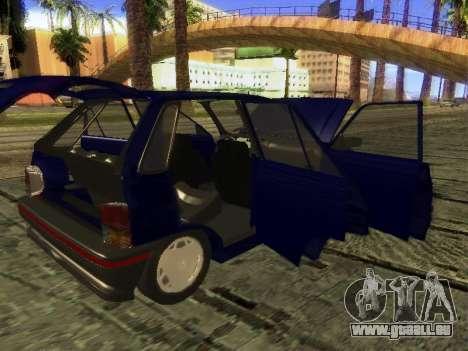 Kia Pride Hatchback für GTA San Andreas obere Ansicht