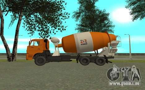 KAMAZ 6520 ciment pour GTA San Andreas laissé vue