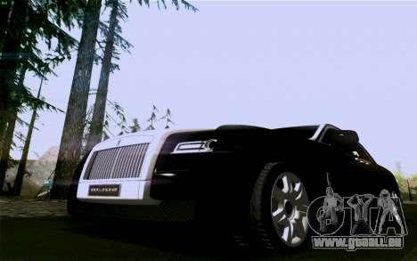Rolls-Royce Ghost pour GTA San Andreas sur la vue arrière gauche