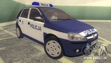 Opel Corsa C Policja für GTA San Andreas linke Ansicht