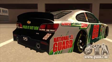Chevrolet SS NASCAR No. 88 Diet Mountain Dew für GTA San Andreas rechten Ansicht