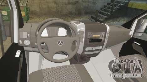 Mercedes-Benz Sprinter Croatian Police [ELS] pour GTA 4 Vue arrière