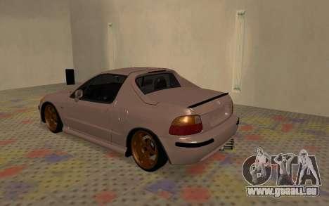 Honda CRX DelSol TMC pour GTA San Andreas vue de droite