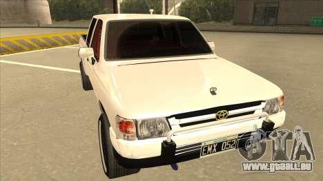 Toyota Hilux 2004 pour GTA San Andreas laissé vue
