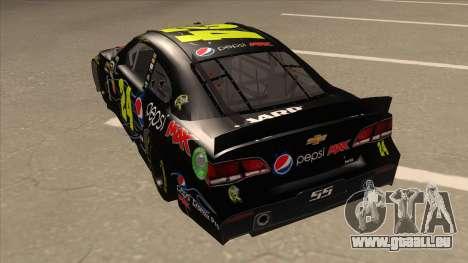Chevrolet SS NASCAR No. 24 Pepsi Max AARP für GTA San Andreas Rückansicht