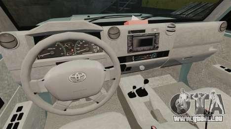 Toyota Land Cruiser 76 Wagon GXL 2010 pour GTA 4 Vue arrière