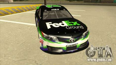 Toyota Camry NASCAR No. 11 FedEx Ground für GTA San Andreas linke Ansicht