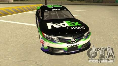 Toyota Camry NASCAR No. 11 FedEx Ground pour GTA San Andreas laissé vue