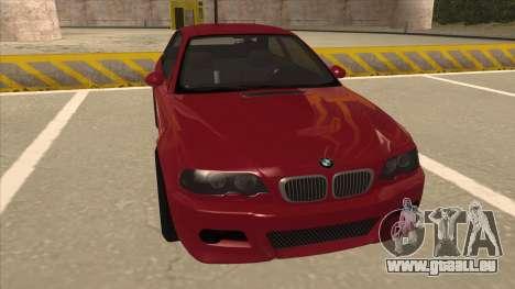 BMW M3 Tuned pour GTA San Andreas laissé vue