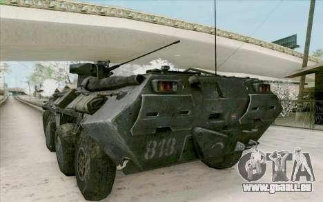 BTR-80 pour GTA San Andreas vue arrière
