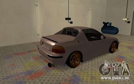 Honda CRX DelSol TMC pour GTA San Andreas sur la vue arrière gauche