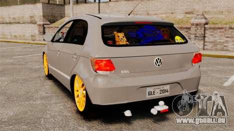 Volkswagen Gol G6 2013 Turbo Socado für GTA 4 hinten links Ansicht