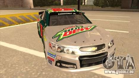 Chevrolet SS NASCAR No. 88 Diet Mountain Dew pour GTA San Andreas laissé vue