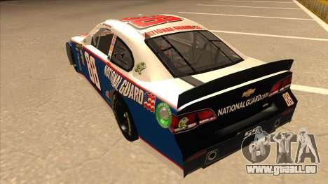 Chevrolet SS NASCAR No. 88 National Guard pour GTA San Andreas vue arrière