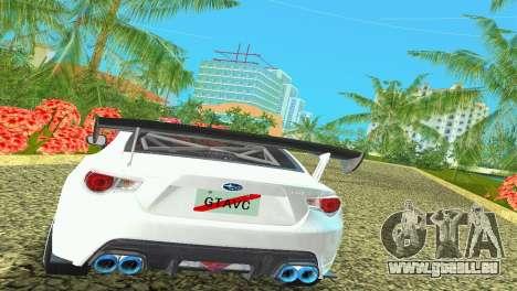 Subaru BRZ Type 4 pour GTA Vice City vue arrière