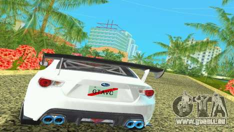 Subaru BRZ Type 4 für GTA Vice City Rückansicht