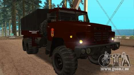 Camion auto-école v. 2.0 pour GTA San Andreas laissé vue
