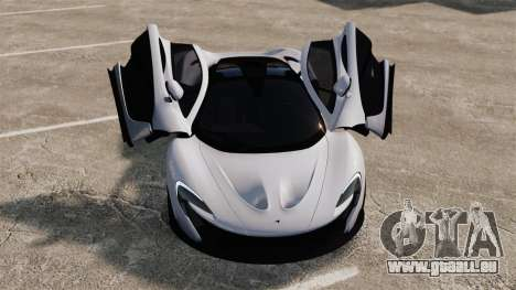 McLaren P1 [EPM] pour GTA 4 vue de dessus