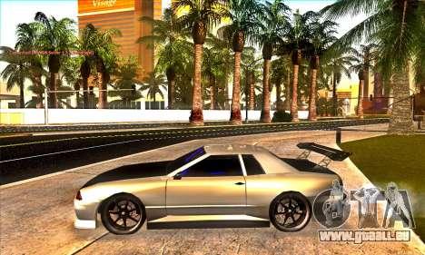 Elegy Drift Concept pour GTA San Andreas vue de dessus