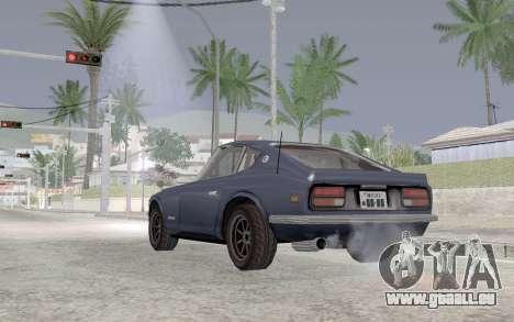 Nissan Fairlady Z AKUMA pour GTA San Andreas sur la vue arrière gauche