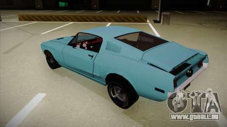 Ford Mustang für GTA San Andreas Rückansicht