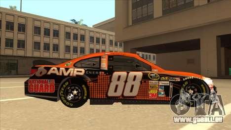 Chevrolet SS NASCAR No. 88 Amp Energy pour GTA San Andreas sur la vue arrière gauche