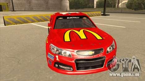 Chevrolet SS NASCAR No. 1 McDonalds pour GTA San Andreas laissé vue