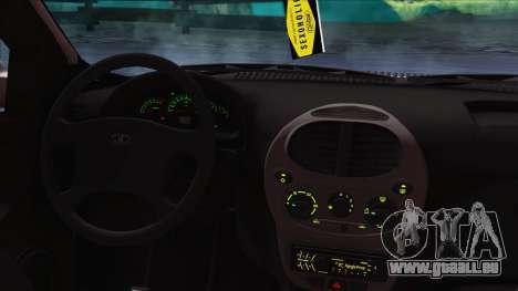 LADA Kalina 1119 pour GTA San Andreas sur la vue arrière gauche