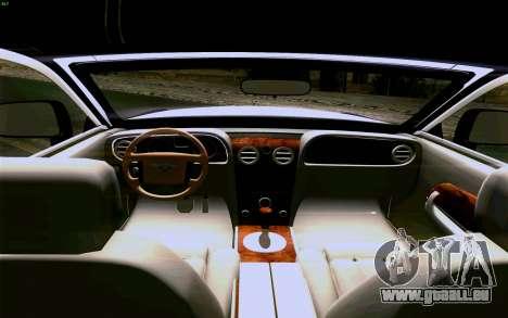 Rolls-Royce Ghost pour GTA San Andreas vue de dessous
