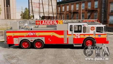 Ferrara 100 Aerial Ladder FDNY 2013 [ELS] pour GTA 4 est une gauche