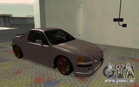 Honda CRX DelSol TMC pour GTA San Andreas laissé vue