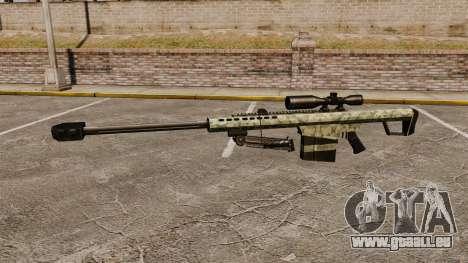 Le v8 de fusil de sniper Barrett M82 pour GTA 4 troisième écran
