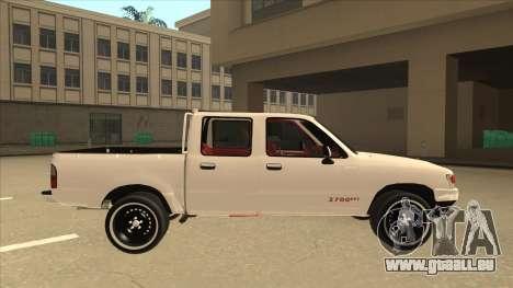 Toyota Hilux 2004 pour GTA San Andreas sur la vue arrière gauche