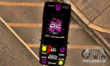 Elegy DC v1 pour GTA San Andreas vue arrière