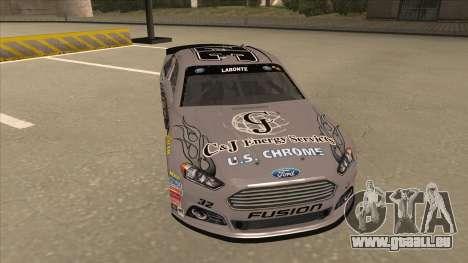Ford Fusion NASCAR No. 32 C&J Energy services pour GTA San Andreas laissé vue
